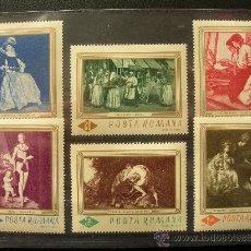 Sellos: RUMANIA 1967 IVERT 2286/91 *** CUADROS DE LA GALERÍA NACIONAL DE BUCAREST - PINTURA. Lote 34929318