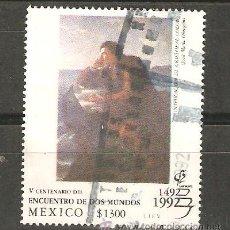 Sellos: SELLOS SELLO ARTE PINTURA MEXICO GRAN TAMAÑO ALTO VALOR-CRISTOBAL COLON. Lote 135264582