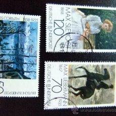 Sellos: ALEMANIA FEDERAL YVERT 837 - 839 º FU PINTURAS IMPRESIONISTAS. Lote 35389949
