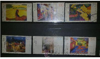 2080-ALEMANIA PINTURAS 2 SERIES COMPLETAS ARTE.8,00€ (Sellos - Temáticas - Arte)