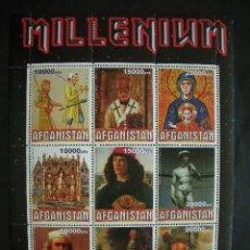 Sellos: AFGANISTAN 1999 *** PINTURA - ARTE DE LOS SIGLOS XI AL XIX . Lote 36543629