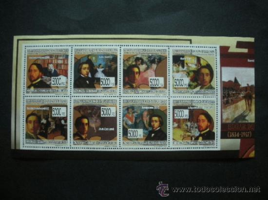 R.GUINEA 2009 IVERT 4314/21 *** PINTURA - EDGAR DEGAS - PINTOR FRANCES - ARTE (Sellos - Temáticas - Arte)