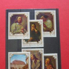 Sellos: RUMANIA 1970 IVERT 2580/2585 *** CUADROS DEL MUSEO DE BRUCKENTHAL - PINTURA. Lote 113247266