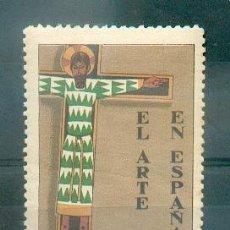 Sellos: EXPOSICIÓN FILATÉLICA DE BARCELONA 1929- EL ARTE EN ESPAÑA.- PRECIOSA Y GRAN VIÑETA. Lote 40055719