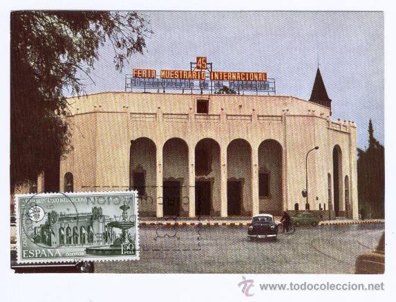 TARJETA MAXIMA PD ** 45 FERIA MUESTRARIO INTERNACIONAL DE VALENCIA ** 1967 - COCHES ANTIGUOS (Sellos - Temáticas - Arte)