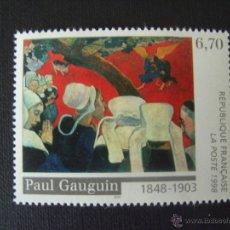 Sellos: FRANCIA Nº YVERT 3207*** AÑO 1998. PINTURA. 150 ANIVERSARIO NACIMIENTO DE GAUGUIN.. Lote 40978969