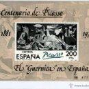 Sellos: SELLO CONMEMORATIVO DEL CENTENARIO DE PICASSO EL GUERNICA EN ESPAÑA SERIE LIMITADA Y NUMERADA. Lote 43283794