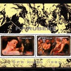 Sellos: COREA DEL NORTE 1770 HB** - AÑO 1983 - ARTE - PINTURA - OBRAS DE RUBENS. Lote 44811977