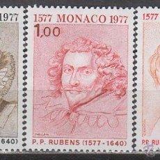 Sellos: MONACO IVERT 1098/100, 4º CENTENARIO DE RUBENS, NUEVOS ***. Lote 45691052