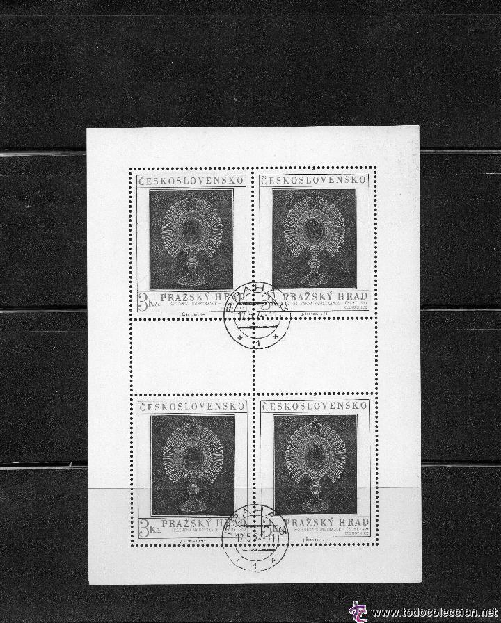 CHECOSLOVAQUIA - AÑO 1974 Nº YVERT 2047 EN HOJA BLOQUE DE 4 VALORES - CRISTAL DE BOHEMIA -USADOS (Sellos - Temáticas - Arte)
