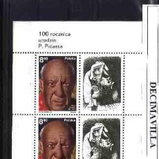 Sellos: POLONIA, 1981, HB. 92, PICASSO, PINT061. Lote 48226799
