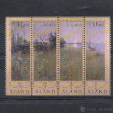 Sellos: ALAND-FINLANDIA=YVERT Nº 219/22=ARTE-PINTURA-PAISAJE DE VERANO DE DANIELSON=AÑO 2003=REF=FI154. Lote 48465802