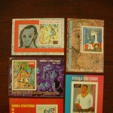 Sellos: 5 HOJITAS HOMENAJE A PABLO PICASSO 1881 - 1973 CORREO AEREO REPUBLICA DE GUINEA ECUATORIAL. Lote 269081653
