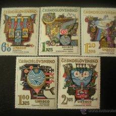 Sellos: CHECOSLOVAQUIA 1974 IVERT 2040/44 *** DECADA HIDROLÓGICA INTERNACIONAL - HOMBRE Y CIENCIA - UNESCO. Lote 50476037