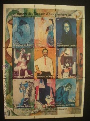 R. GUINEA 1998 IVERT 1355/63 *** 25º ANIVERSARIO DE LA MUERTE DE PABLO PICASSO - PINTURA (Sellos - Temáticas - Arte)