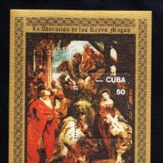 Sellos: CUBA HB 52** - AÑO 1977 - PINTURA - 400º ANIVERSARIO DEL NACIMIENTO DE RUBENS. Lote 50939565