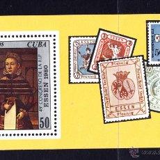 Sellos: CUBA HB 63** - AÑO 1980 - PINTURA - OBRA DE L. T. RING EL JOVEN. Lote 50939599