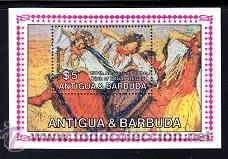 ANTIGUA HB 84** - AÑO 1984 - PINTURA - 150º ANIVERSARIO DEL NACIMIENTO DEL PINTOR EDGAR DEGAS (Sellos - Temáticas - Arte)
