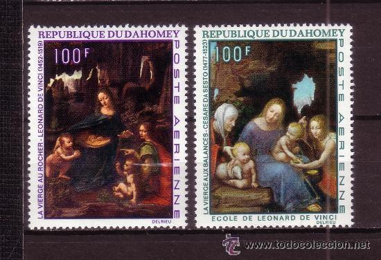 DAHOMEY 1969 AEREO IVERT 99/100 *** PINTURA - CUADROS DE CESARE DA SESTO Y LEONARDO DA VINCI (Sellos - Temáticas - Arte)
