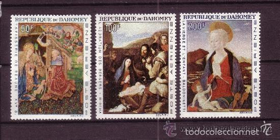 DAHOMEY 1966 AEREO IVERT 50/2 *** TAPICERIA Y PINTURA - BEAUNE - RIVERA Y BALDOVINETTI (Sellos - Temáticas - Arte)