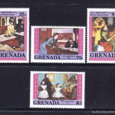 Sellos - GRANADA 1191/94** - AÑO 1984 - PINTURA - 150º ANIVERSARIO DEL NACIMIENTO DE EDGAR DEGAS - 55110313