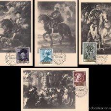 Sellos: EDIFIL 1434/7, RUBENS:CUADROS, TARJETA MÁXIMA DE 28-5-1962 SERIE COMPLETA. Lote 56797549