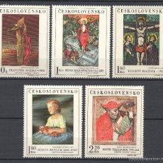 Sellos: CHECOSLOVAQUIA 1756/60** - AÑO 1969 - PINTURA - OBRAS DE MUSEOS NACIONALES. Lote 56909072