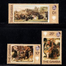 Sellos: GAMBIA 385/87** - AÑO 1979 - PINTURA - OBRAS DE W. P. FRITH - AÑO INTERNACIONAL DEL NIÑO. Lote 267419069