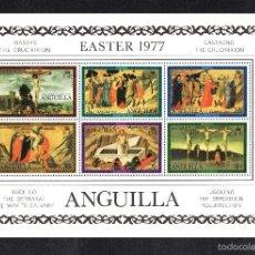 Sellos: ANGUILLA HB 16** - AÑO 1977 - PINTURA RELIGIOSA - OBRAS DE MASSYS, UGOLINO Y CASTAGNO - PASCUA. Lote 177433487
