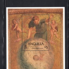 Sellos: ANGUILLA HB 55** - AÑO 1984 - PINTURA - OBRA DE RAPHAEL. Lote 177433490