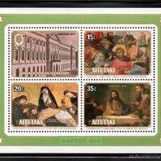 Sellos: AITUTAKI HB 19** - AÑO 1978 - PINTURA RELIGIOSA - OBRAS DEL MUSEO DEL LOUVRE - PASCUA. Lote 177433535