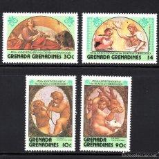 Sellos: GRANADA GRANADINAS 537/40** - AÑO 1984 - PINTURA - 450º ANIVERSARIO DE LA MUERTE DE CORREGGIO. Lote 58603654