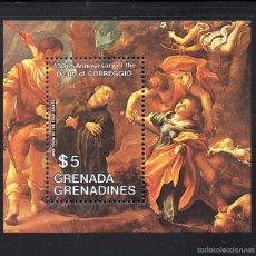 Sellos: GRANADA GRANADINAS HB 83** - AÑO 1984 - PINTURA - 450º ANIVERSARIO DE LA MUERTE DE CORREGGIO. Lote 58603700
