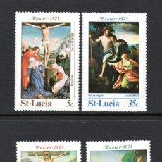 Sellos: SANTA LUCIA 368/71** - AÑO 1975 - PINTURA - OBRAS DE VAN DER WEYDEN, ROMANO, GALLEGO Y CORREGIO. Lote 177433565