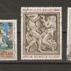 Sellos: FRANCIA.1968. YV Nº 1568,1569,1570. ARTE. Lote 59673067