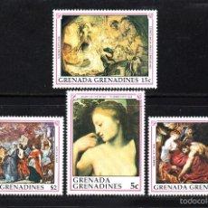 Sellos: GRANADA GRANADINAS 1152/55** - AÑO 1990 - PINTURA - 350º ANIVERSARIO DE LA MUERTE DE RUBENS. Lote 59730369