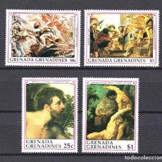 Sellos: GRANADA GRANADINAS 1160/63** - AÑO 1990 - PINTURA - 350º ANIVERSARIO DE LA MUERTE DE RUBENS. Lote 61446175