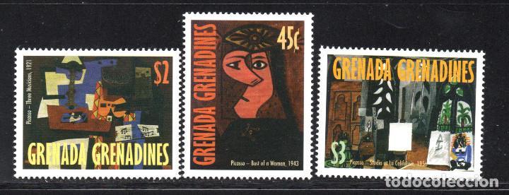 GRANADA GRANADINAS 2346/48** - AÑO 1998 - PINTURA - 25º ANIVERSARIO DE LA MUERTE DE PABLO PICASSO (Sellos - Temáticas - Arte)