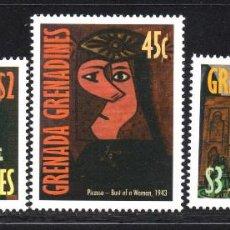 Sellos: GRANADA GRANADINAS 2346/48** - AÑO 1998 - PINTURA - 25º ANIVERSARIO DE LA MUERTE DE PABLO PICASSO. Lote 61446195