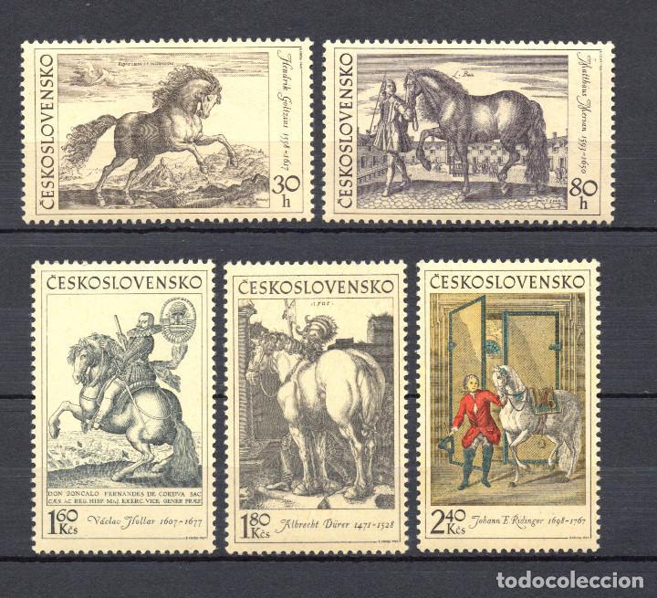 CHECOSLOVAQUIA 1717/21** - AÑO 1969 - PINTURA - EL CABALLO EN LA PINTURA (Sellos - Temáticas - Arte)