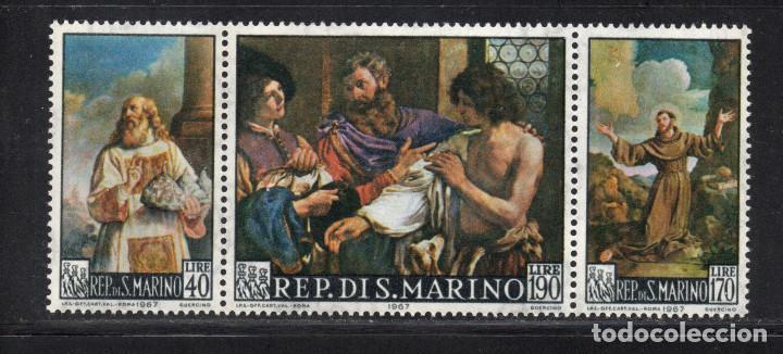 SAN MARINO 694/96** - AÑO 1967 - PINTURA - OBRA DE GUERCINO (Sellos - Temáticas - Arte)