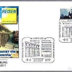 Sellos: MATASELLOS FERIA DE TURISMO - ACUEDUCTO DE SEGOVIA. HAMBURG, ALEMANIA, 2017. Lote 77433605