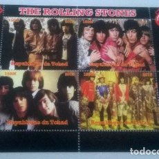 Sellos: THE ROLLING STONES ON STAMPS SHEET (2015). Lote 186319458