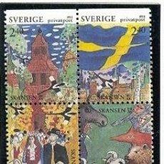Sellos: SUECIA 1991 - MUSEO DE SKANSEN - YVERT 1645/48. Lote 221851972