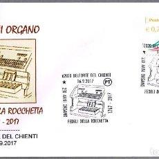 Sellos: MATASELLOS MUSICA - 250 AÑOS ORGANO FEDELI DELLA ROCCHETTA. BELFORTE DEL CHIENTI, ITALIA, 2017. Lote 101642075
