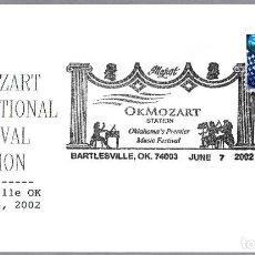 Sellos: MATASELLOS FESTIVAL OK MOZART INTERNACIONAL. BARTLESVILLE OK 2002. Lote 104431507