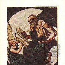 Sellos: EDIFIL 2210, EDUARDO ROSALES: EL EVANGELISTA SAN MARCOS, TARJETA MAXIMA DE PRIMER DIA DE 29-9-1974. Lote 107581259