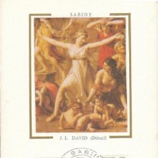 Sellos: FRANCIA IVERT Nº 1980 LOUIS DAVID: LAS SABINAS EN EL COMBATE CON LOS ROMANOS TARJETA MÁXIMA 1-8-1980. Lote 108389499