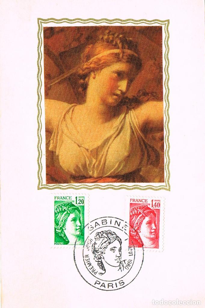 FRANCIA, DAVID: LA SABINA, TARJETA MAXIMA DE 1-8-1980 (Sellos - Temáticas - Arte)