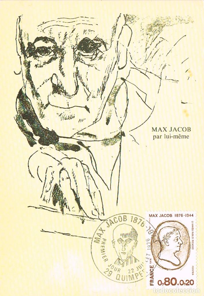 FRANCIA IVERT 1881, MAX JACOB, ESCRITOR Y PINTOR, MURIÓ EN UN CAMPO DE CONCENTRACIÓN, MÁXIMA 22-6-76 (Sellos - Temáticas - Arte)
